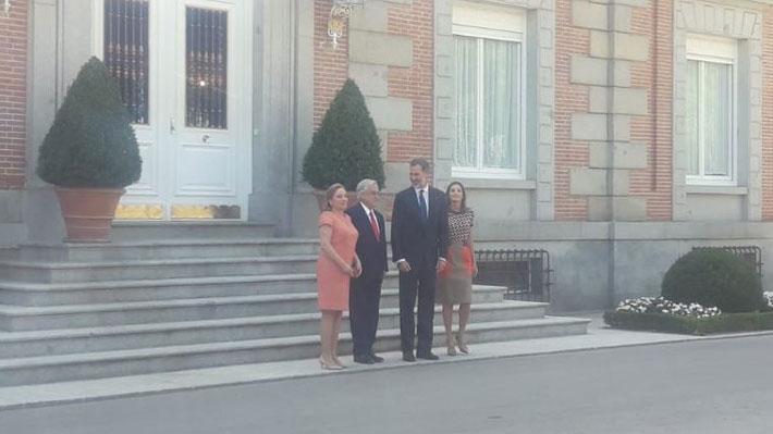 Piñera se reúne con el Rey Felipe VI en el marco de su visita a España