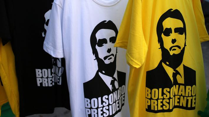 Bolsonaro lidera primer sondeo para balotaje en Brasil con un 58% de intención de voto