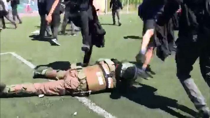 Alcalde Alessandri revela video de agresión a carabineros en el Internado Barros Arana