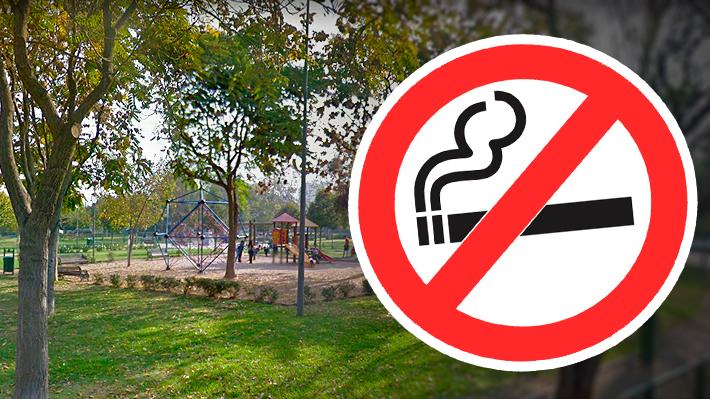 Las Condes prohíbe fumar en sus plazas y establece multas para quienes no cumplan