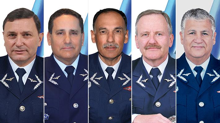 Hasta noviembre de 2022: Éstos son los cinco candidatos para liderar la Fuerza Aérea de Chile