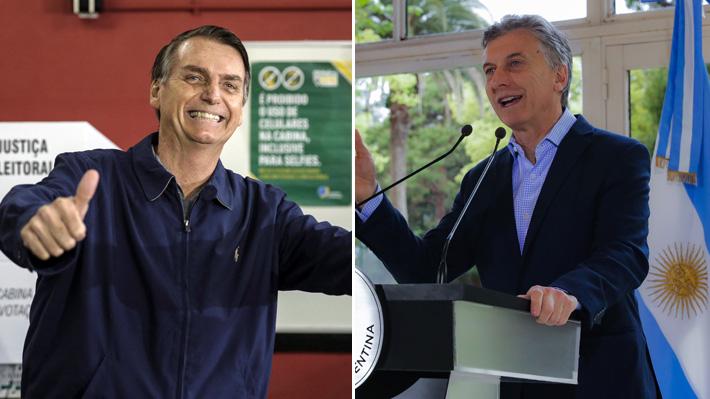 Bolsonaro se contacta con Macri a 12 días de la elección presidencial en Brasil