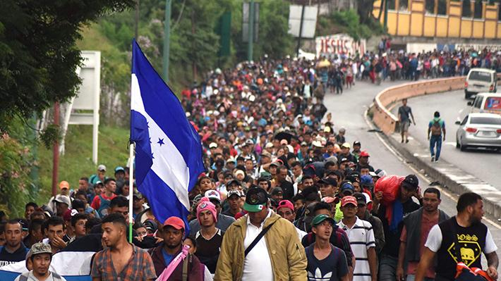 Galería: Caravana de miles de migrantes hondureños se dirige a EE.UU. ¿De qué huyen?