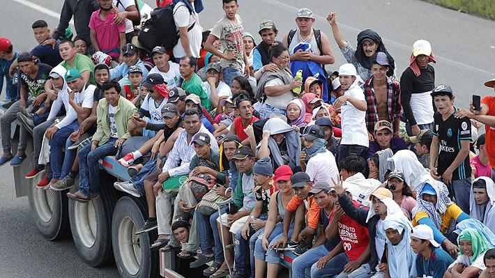 ONU cifra en más de 7.000 las personas que viajan en caravana migrante rumbo a EE.UU.