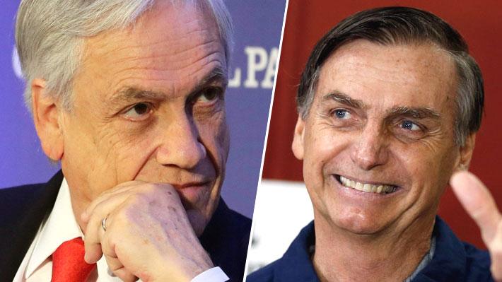 Medio argentino plantea posible pérdida de liderazgo de Piñera en América Latina ante eventual elección de Bolsonaro