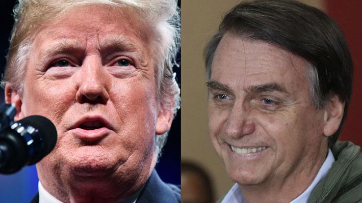 Trump llamó a Bolsonaro para felicitarlo por su victoria en Brasil