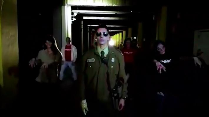 """La campaña de Carabineros inspirada en """"Thriller"""" de Michael Jackson para evitar accidentes en Halloween"""