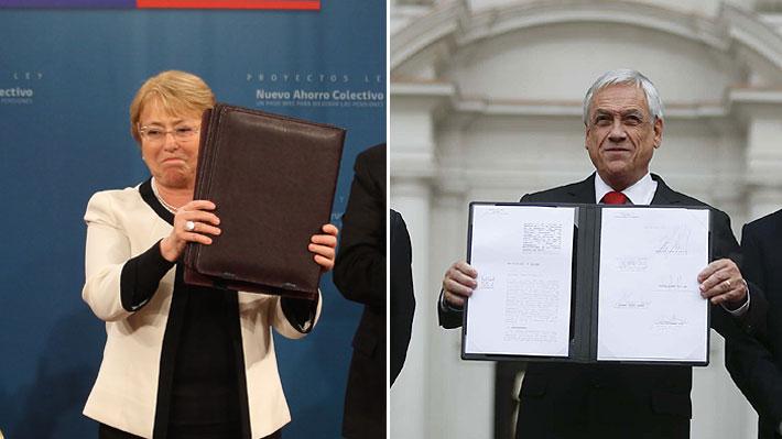 Pensiones: Los 17 capítulos de la propuesta de Bachelet que Piñera rescató para su reforma