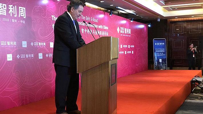 Chile Week: Canciller anuncia adhesión a multimillonario programa de inversiones chino a nivel global