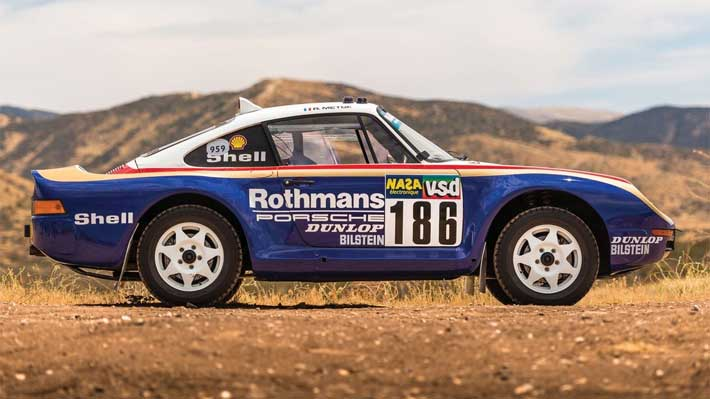 Pagan más de 5 millones de dólares por un exclusivo Porsche 959 París-Dakar