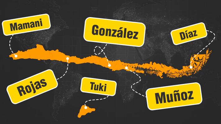 Mamani y Rojas en el norte y González en Santiago: Conozca los apellidos más inscritos por comuna