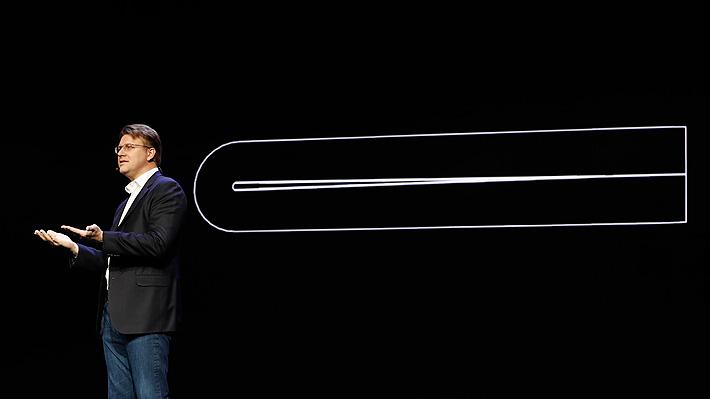 Una pantalla flexible: Samsung hizo realidad su rumoreado teléfono plegable