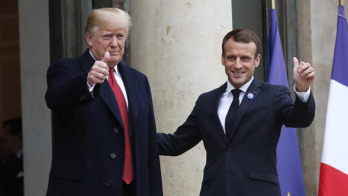 Trump y Macron coinciden en que Europa debe aumentar su aportación militar