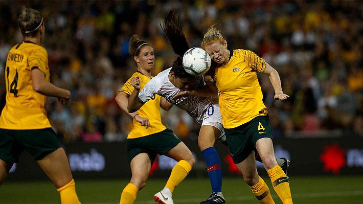 """La """"Roja"""" femenina no pudo con Australia, sexta del mundo, que se cobró revancha y ganó por goleada"""