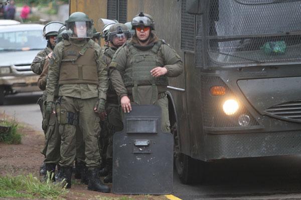 Ercilla: Se registran enfrentamientos entre carabineros y desconocidos tras muerte de Catrillanca