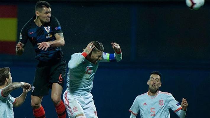 """Defensor croata se burló tras vencer a España y desafió a Sergio Ramos: """"Lo maté de un codazo, a ver si habla ahora"""""""