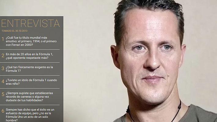 Familia de Schumacher publica inédita entrevista al ex piloto realizada semanas antes del brutal accidente