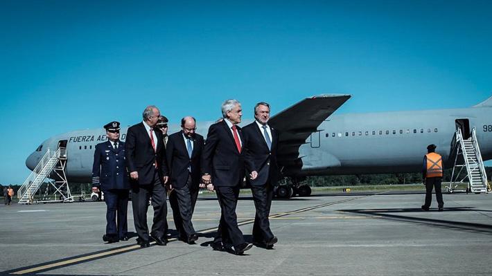 Piñera llega a La Araucanía y es recibido por el intendente Atton y el renunciado Mayol