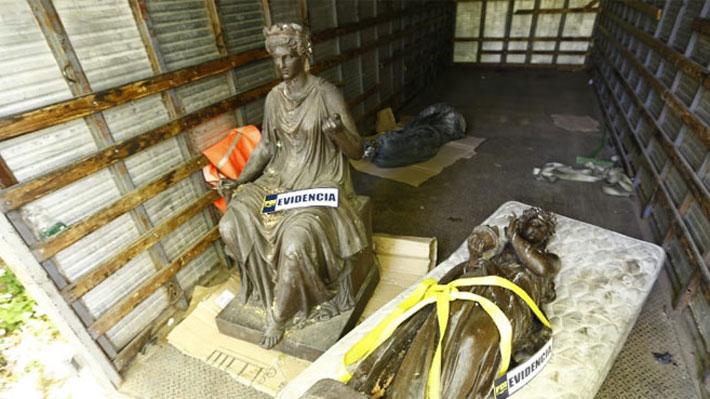 Valparaíso, Santa Lucía y Cementerio General: El origen de las estatuas incautadas en fundo de San Francisco de Mostazal