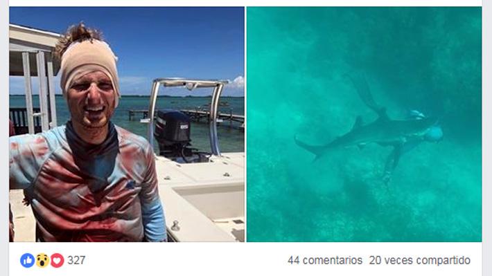 Sintió el crujido en su cabeza: El impactante momento en que un hombre es atacado por un tiburón