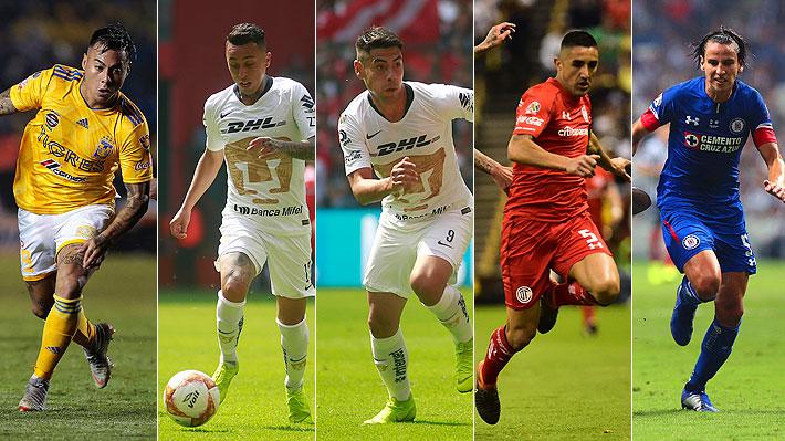Con Vargas a la cabeza: Cinco chilenos van por la gloria en los playoffs del fútbol mexicano