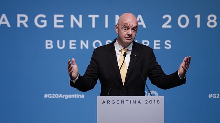 Presidente de la FIFA ratifica que la final de la Libertadores se jugará en Madrid pese a fuerte reclamo de River Plate