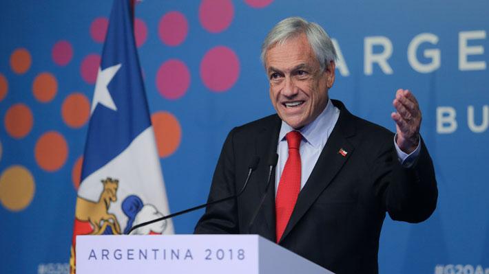 """Piñera hace positivo balance del G20: """"Dejamos atrás las diferencias y buscamos lo que es fundamental"""""""