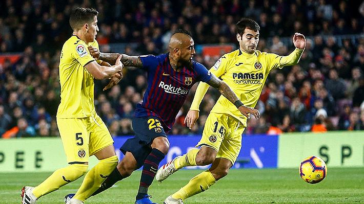 Vidal jugó un gran partido y se fue entre aplausos en cómodo triunfo del Barcelona sobre el Villarreal
