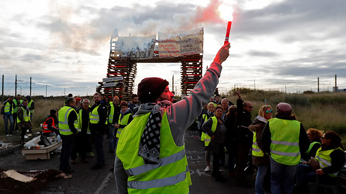 """Transportistas franceses denuncian pérdidas de US$450 millones por protestas de """"chalecos amarillos"""""""