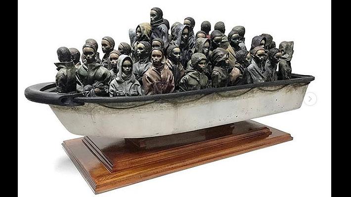 Banksy sortea por internet una de sus obras: Para ganarla hay que descubrir su peso exacto