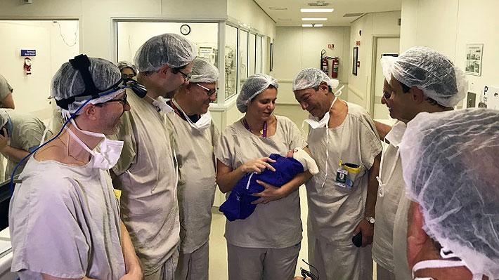 Confirman el nacimiento de la primera guagua gestada en útero trasplantado de una donante fallecida