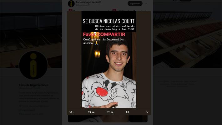 Universitario desaparecido se comunica con su familia: GOPE activa operativo de rescate