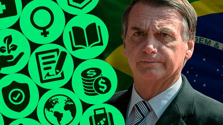 Siete hombres del mundo militar y sólo dos mujeres: El gabinete de Bolsonaro en Brasil