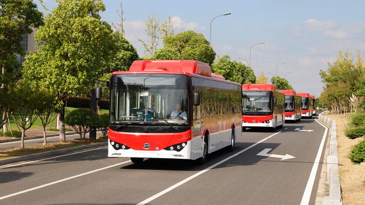 Así son los nuevos buses eléctricos que llegan al Transantiago