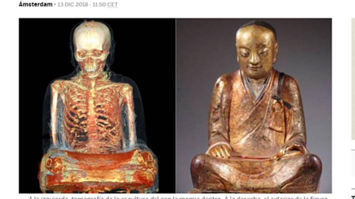 El misterio del monje momificado y oculto dentro de un buda que enfrenta a un coleccionista holandés con una comunidad china