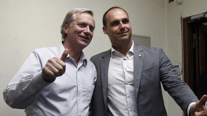 """Kast y encuentro con hijo de Bolsonaro: """"Esperamos generar lazos permanentes con parlamentarios brasileños"""""""