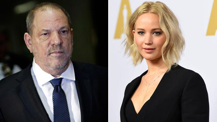 Mujer denuncia que productor Weinstein se jactaba de haber tenido relaciones sexuales con Jennifer Lawrence