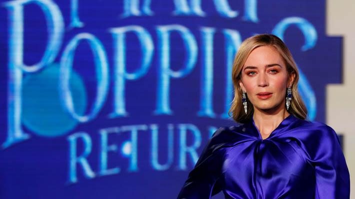 """Emily Blunt admite haberse sentido """"aterrada"""" con algunas escenas de """"El regreso Mary Poppins"""""""