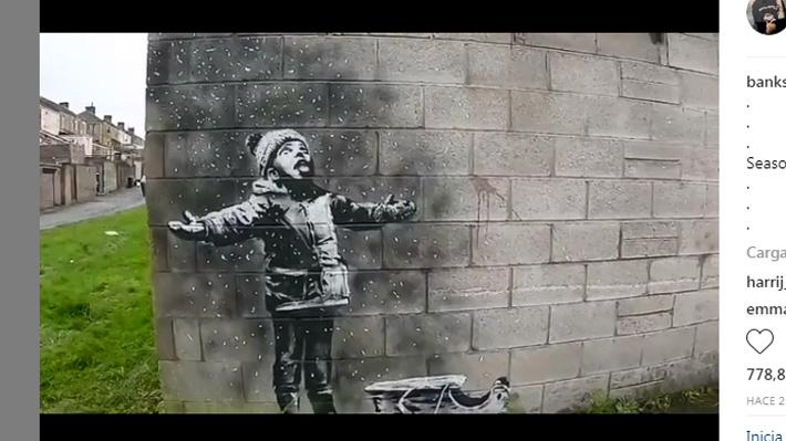 Una obra con trasfondo medioambiental: Banksy confirma la autoría de un graffiti en Gales