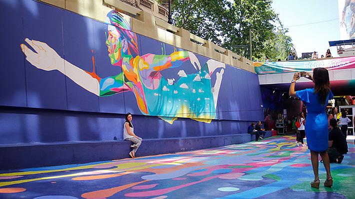 Paseo Bandera: Inauguran segunda etapa con colorido mural de piso de 4 mil metros cuadrados