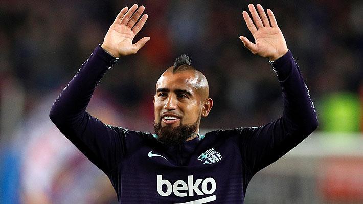 El desafío que le impuso el Barcelona a Vidal dominando pelotas de diferentes tamaños y tipos: Mira cómo le fue