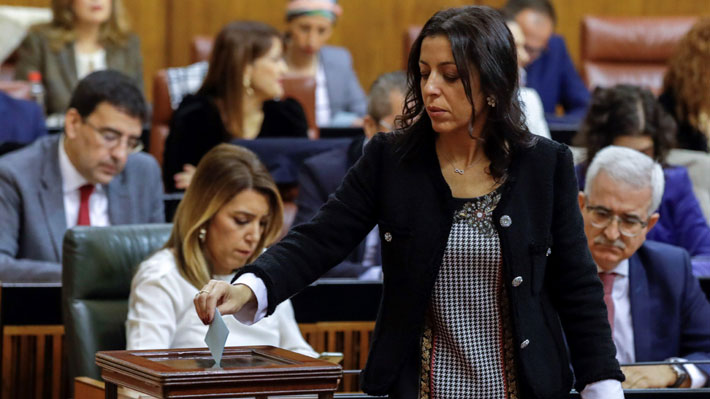 España: Diputada de Ciudadanos es elegida presidenta del Parlamento andaluz con votos de la ultraderecha