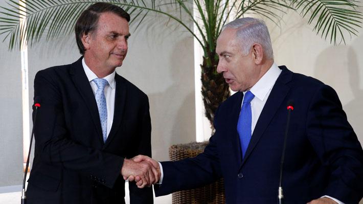 """Netanyahu realiza su primera visita a Brasil y sella una """"nueva alianza"""" con Bolsonaro"""