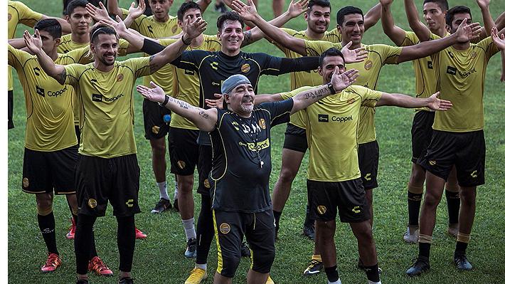 El equipo está entrenando sin su DT: Crece la incertidumbre en Dorados ante la ausencia de Maradona