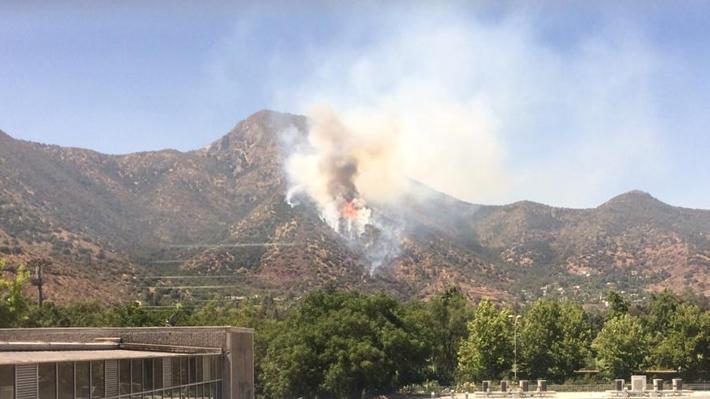 Combate de incendio forestal en cerro Manquehue se extiende por más de ocho horas: Logran contener su avance