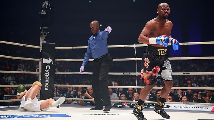 No entrenó, llegó 3 horas tarde y se puso a bailar en medio del combate: La pelea que Mayweather ganó en 2 minutos