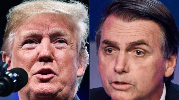 Trump y Bolsonaro se intercambiaron mensajes de felicitaciones y agradecimientos tras la investidura del presidente brasileño