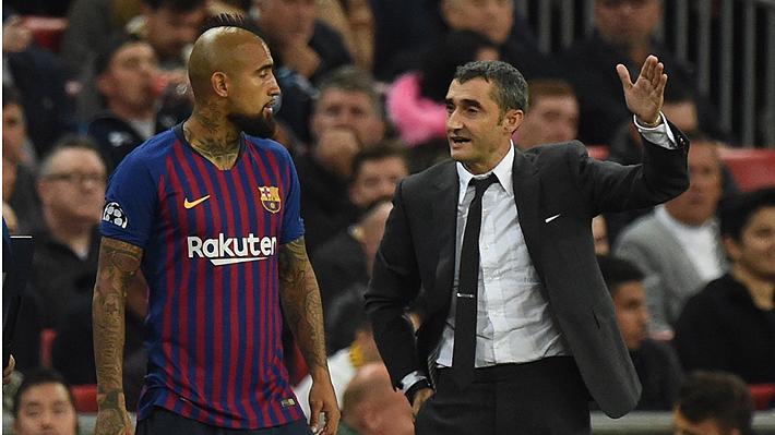"""Valverde alaba la """"fiabilidad"""" de Vidal: """"Sabemos que nos va a dar rendimiento y contagia con su entusiasmo"""""""