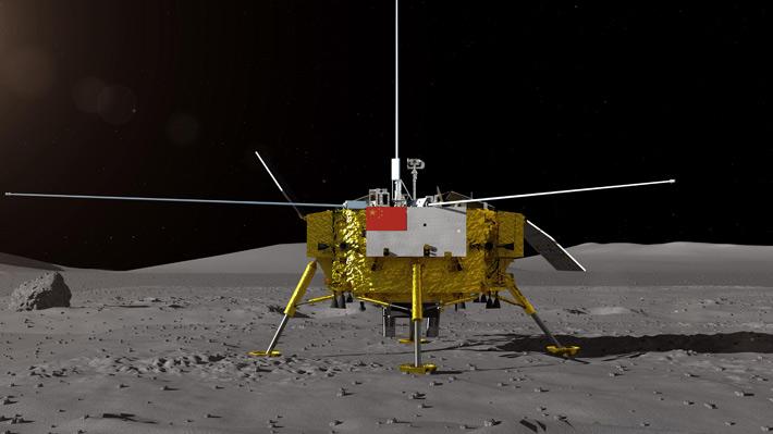 La sonda china Chang'e-4 logra histórico alunizaje en la cara oculta de la Luna