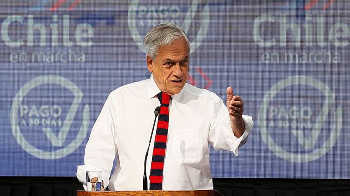 """Piñera destaca """"aporte y colaboración"""" de la DC y el PR para sacar adelante Ley Pago a 30 días"""